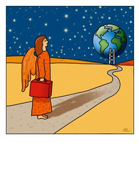 Engel besucht die Welt